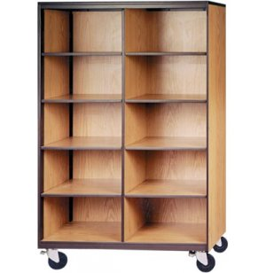 Mobile Cubby Storage - 10 Adj Shelves, 72