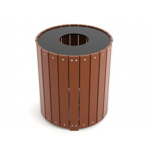 Round Resin Trash Receptacle