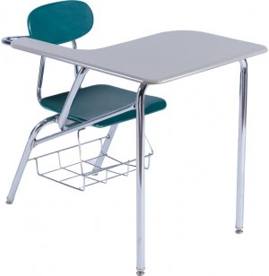 Hard Plastic Student Chair Desk - Hard Plastic Top