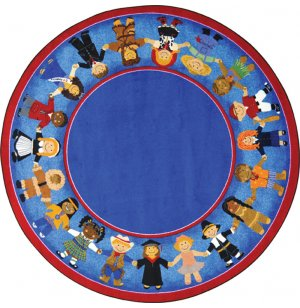 Children of Many Cultures Round Rug
