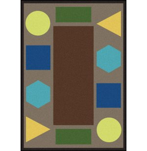 Sitting Shapes Classroom Rug