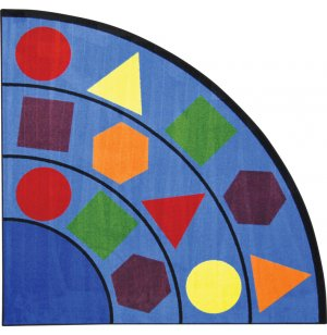 Sitting Shapes Quarter-Round Classroom Rug