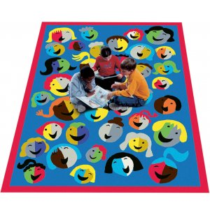 Joyful Faces Rectangle Carpet