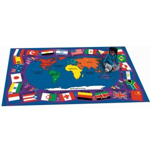 Flags of the World Rectangle Carpet