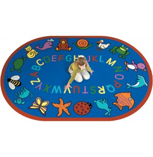 ABC Animals Oval Carpet