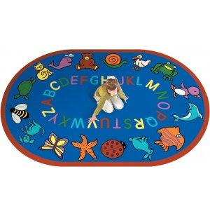 ABC Animals Oval Carpet