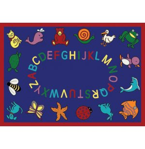 ABC Animals Rectangle Carpet