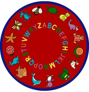ABC Animals Round Carpet