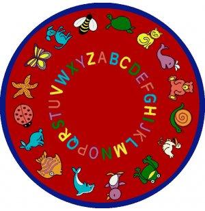 ABC Animals Round Carpet