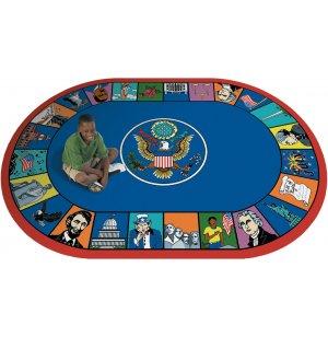 Symbols of America Oval Carpet