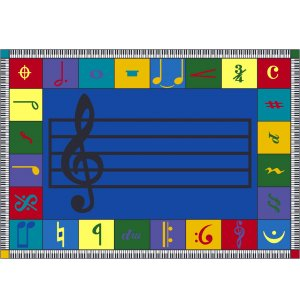 Note Worthy Elementary Carpet 5 4 Quot X7 8 Quot Music Rugs
