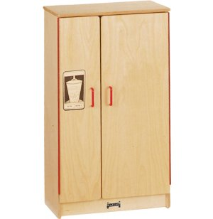 JNT Wooden Play Kitchen Refrigerator
