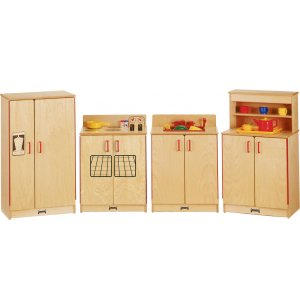 JNT Wooden Play Kitchen Set - 4 Appliances