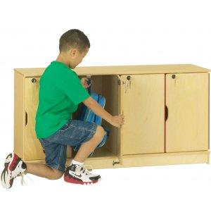 Stacking Preschool Lockers - Single Tier