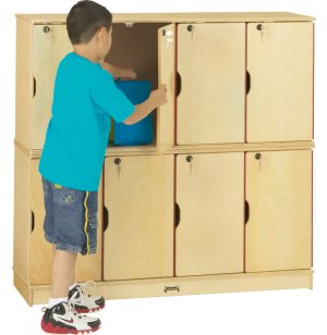 Stacking Preschool Lockers - Double Tier