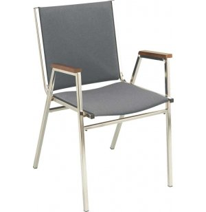 XL Fabric Stacking Arm Chair