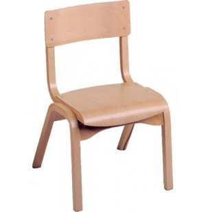 Educational Edge Wood Chair in Natural