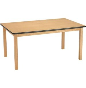 Edu Edge Rectangular Wood Activity Table