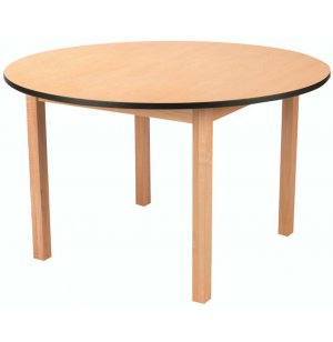 Edu Edge Round Wood Activity Table