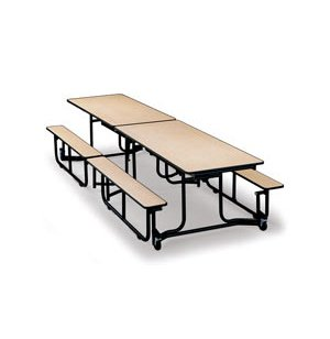 Uniframe Mobile Cafeteria Table - Painted Frame