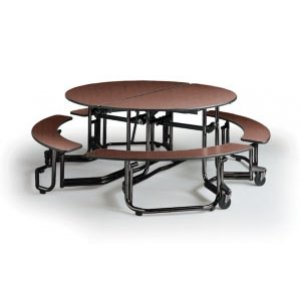 Uniframe Round Unit with Benches - Painted