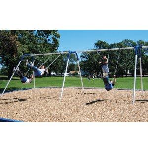 Bipod Playground Swings w/ 4 Seats