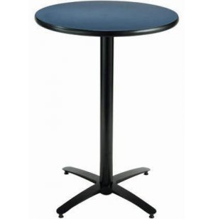 Round Counter-Height Cafeteria Table, Arched Base
