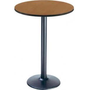 Deluxe Round Bar-Height Cafe Table - Round Base