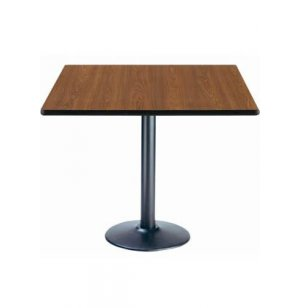 Deluxe Square Cafe Table - Round Base