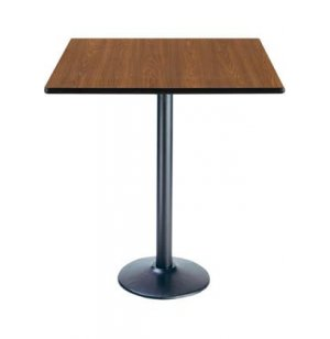 Deluxe Square Bar-Height Cafe Table - Round Base
