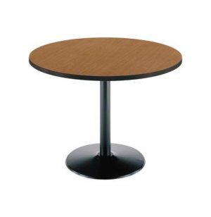 Deluxe Round Cafe Table - Round Base