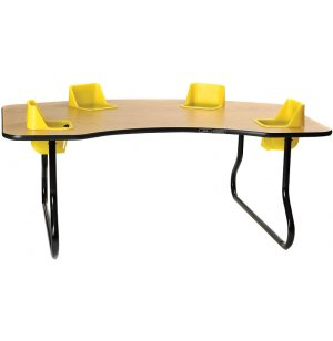 Four Seater Kidney-Shaped Toddler Table