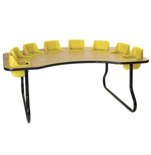 Eight Seater Kidney-Shaped Toddler Table