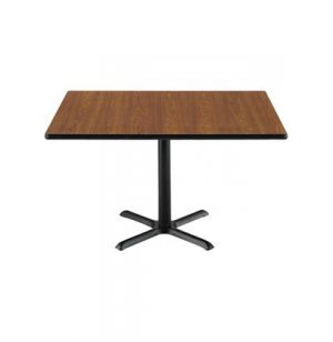 Deluxe Rectangular Cafe Table with X-Base