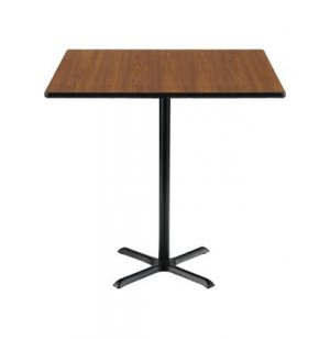 Deluxe Rectangular Bar-Height Cafe Table with X-Base