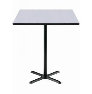 Deluxe Square Bar-Height Cafe Table with X-Base