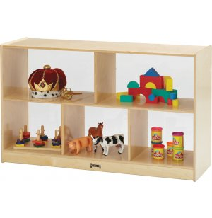 Wooden Classroom Cubby Storage with Plexiglass Back