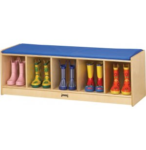 Wooden Preschool Bench Locker with 5 Cubbies