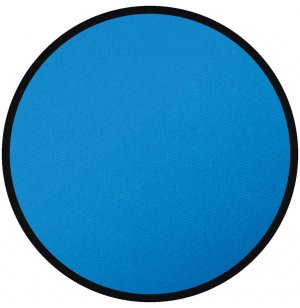 Solid Blue Round Carpet