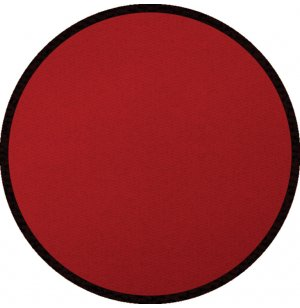 Solid Red Round Carpet
