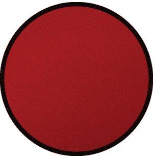 Solid Red Round Carpet