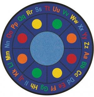 ABC Dots Round Carpet