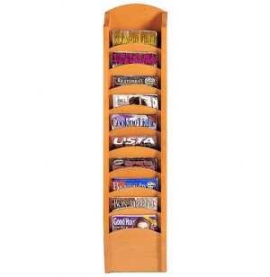 Waterfall Magazine Racks with 10 Pockets