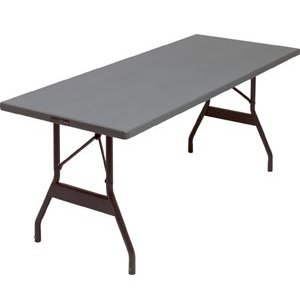 Alum. Rectangular Folding Table- Wishbone Legs