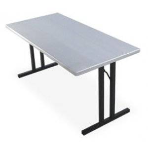 Alum. Rectangular Folding Table- Roman II Legs