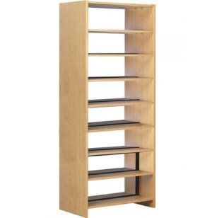 Double Faced Wood Library Shelving - 60