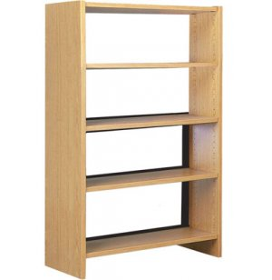 Single Faced Wood Library Shelving - 60