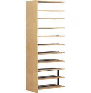 10-Shelf Adder for Double Faced Library Shelf Unit