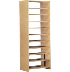 72 Base w/10 Shelves for Double Faced Shelf Unit