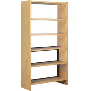 Single Faced Wood Library Shelving - 72